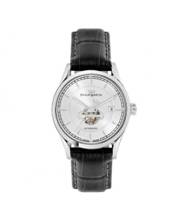 Philip Watch Sunray 39mm auto 3h silver dial black st