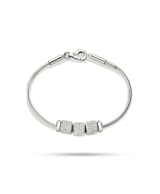Bracciale Morellato Solomia argento 925 br. 3 beads donna SAFZ88 - galleria 1