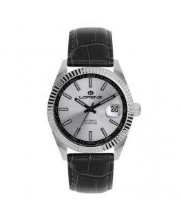 Orologio Lorenz Automatic Ginevra pelle nera / silver