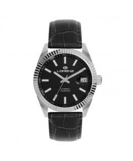 Orologio Lorenz Automatic Ginevra pelle nera / nero