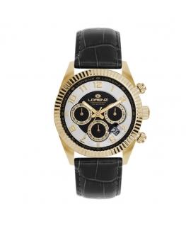 Orologio Lorenz Ginevra Chrono pelle nera / dorato