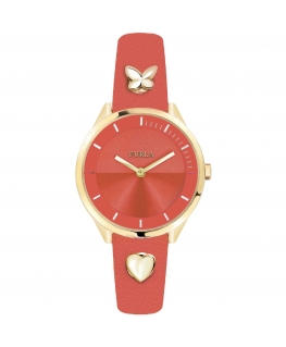 Furla Pin 31mm 3h orange dial orange st