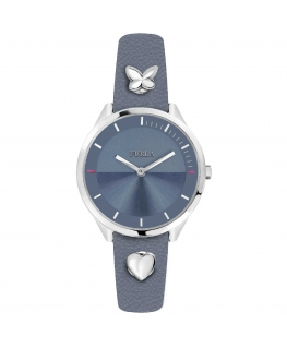 Furla Pin 31mm 3h blue dial blue st