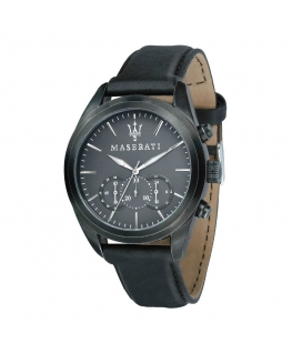 Orologio Maserati Traguardo chrono pelle nero - 44 mm