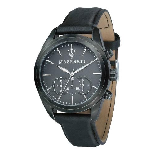 Orologio Maserati Traguardo chrono pelle nero - 44 mm uomo