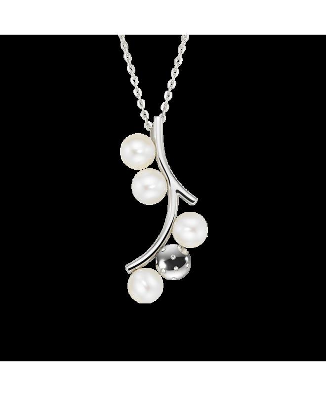 Collana Morellato Lunae donna acciaio 4 perle donna SADX06 - galleria 1