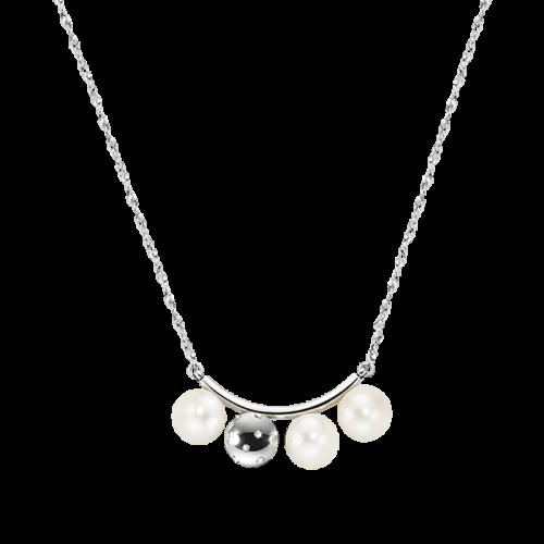 Collana Morellato Lunae donna acciaio / 3 perle donna SADX07