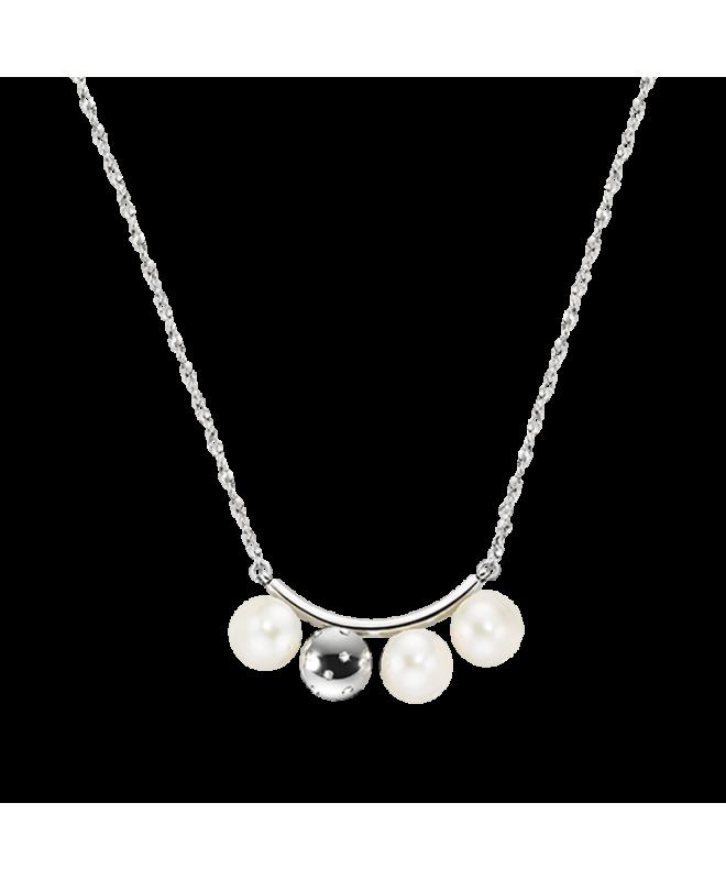 Collana Morellato Lunae donna acciaio / 3 perle donna SADX07 - galleria 1