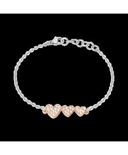 Bracciale Morellato I-love donna acciaio cuori oro rosa
