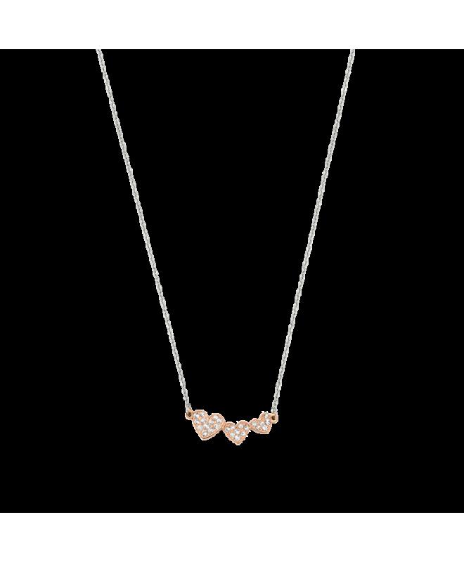 Collana Morellato I-love donna acciaio cuori oro rosa donna - galleria 1