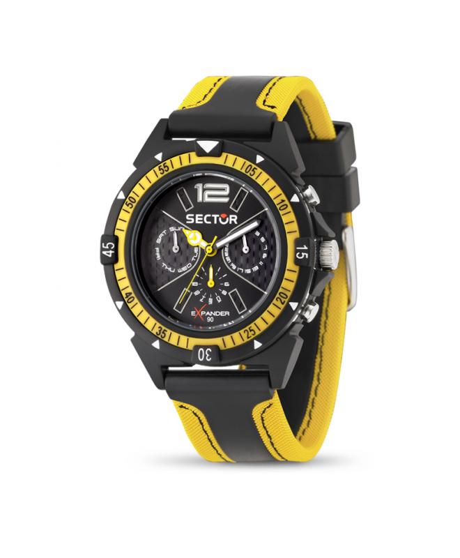 Orologio Sector Expander uomo giallo / nero uomo R3251197022 - galleria 1