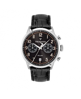 Trussardi T-evolution 40mm 3h blk dial st