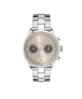 Trussardi T-evolution 40mm 3h bei dial ss b