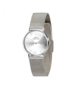 Chronostar Preppy 32mm 2h silver dial mesh band ss