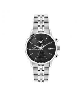 Philip Watch Anniversary 40mm chr black dial ss br
