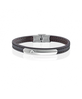 Sector Gioielli Bandy br. ss tag d.brown leather uomo SZV38