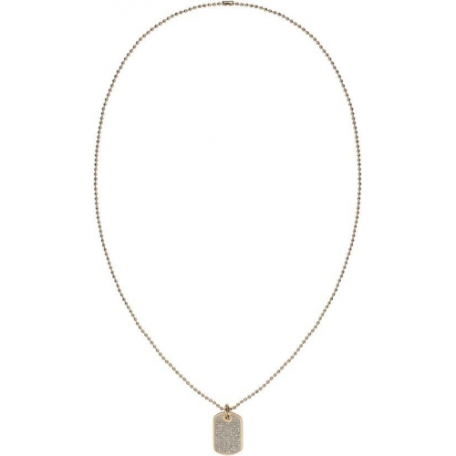 Tommy Hilfiger Mini pave dogtag necklace gp