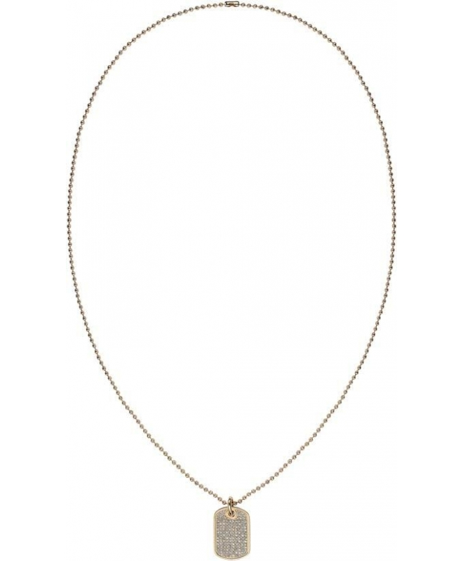 Tommy Hilfiger Mini pave dogtag necklace gp - galleria 1