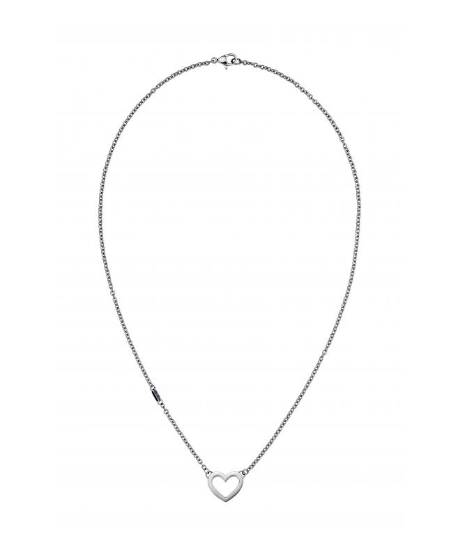 Tommy Hilfiger Heart necklace ss - galleria 1