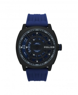 Police Speed head 3h blue dial blue strap