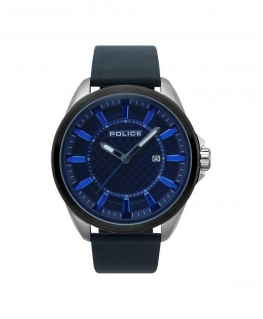 Police Checkmat 3h blue dial blue strap