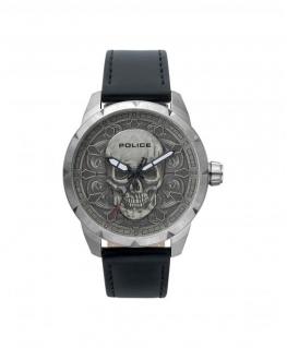 Police Mystic 3h silver dial black strap