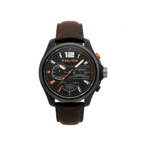 7b112ec1814d Police Denver chr black dial dark brown strap
