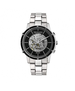 Trussardi T-style 44mm 3h auto black dial br ss