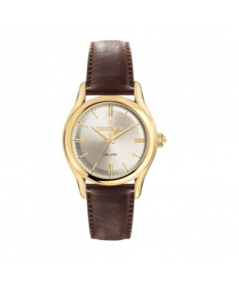 Trussardi T-light 39mm 3h w/silver dial brown st