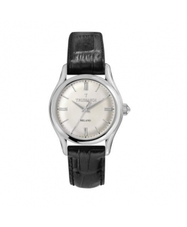 Trussardi T-light 39mm 3h w/silver dial black st