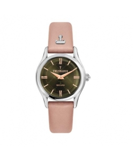 Trussardi T-light 32mm 2h green dial pink st