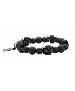 Police Crossball br.ip black & black bead