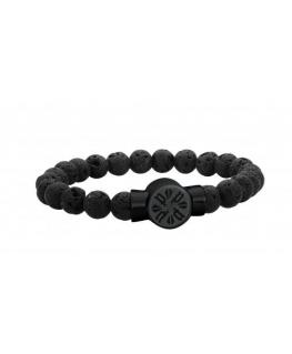 Police P-circle br. ip black & black lava stone
