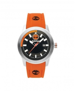 Timberland Fenway 3h black dial orange silicon