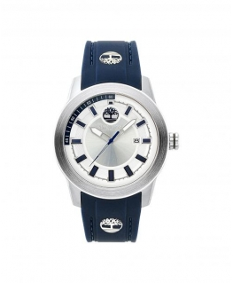 Timberland Fenway 3h silver dial blue silicon