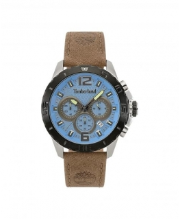 Timberland Harriston chro blue dial beige leather
