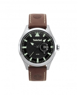Timberland Marmont 3h black dial brown leather
