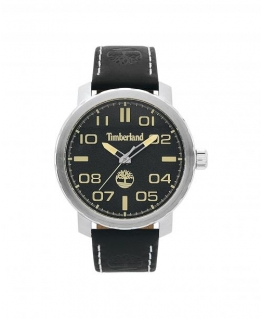 Timberland Wellesley 3h black dial black leather