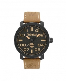 Timberland Wellesley 3h black dial khaki leather