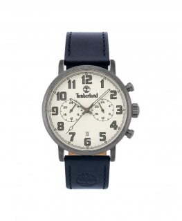 Timberland Richdale dual time sil dial blue leather