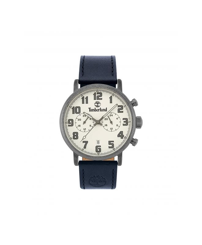 Timberland Richdale dual time sil dial blue leather - galleria 1