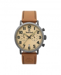 Timberland Richdale dual time beige dial tan leathe