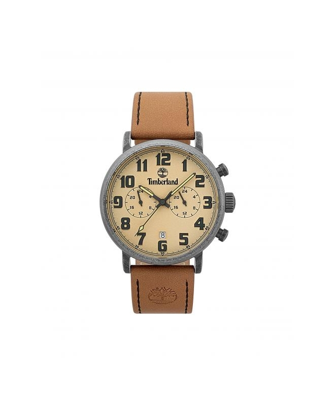 Timberland Richdale dual time beige dial tan leathe - galleria 1