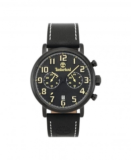 Timberland Richdale dual time blk dial blk leather