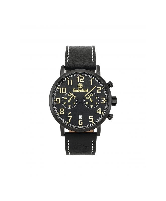 Timberland Richdale dual time blk dial blk leather - galleria 1