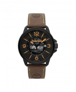 Timberland Biddeford auto black dial brown leather