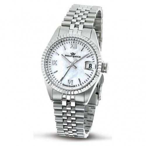 Philip Watch Caribe lady 3h white mop d/bracelet donna