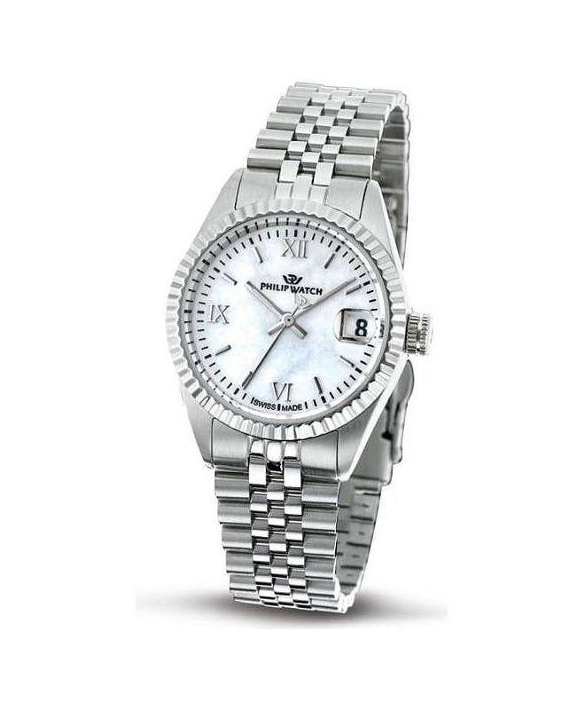 Philip Watch Caribe lady 3h white mop d/bracelet donna - galleria 1