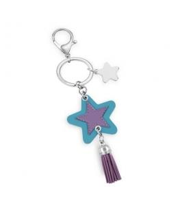 Morellato Keyholder bella star w/lilac&l blue pu