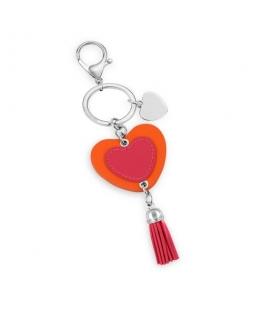Morellato Keyholder bella heart w/fucsia&orange pu